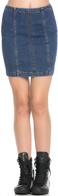 Women's High Rise Denim Pencil Mini Skirt SK9004