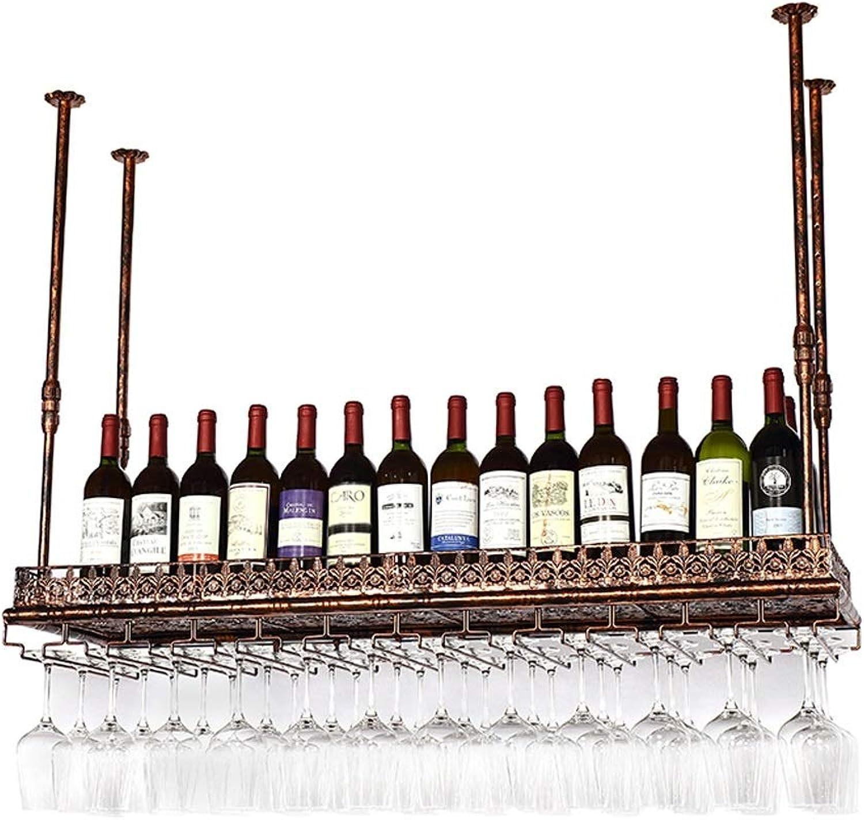 a la venta LEI ZE JUN UK - Soporte para para para Copas de Vino con Soporte para Copas de Vino, Hierro Fundido, marrón, 80  35cm  descuento de bajo precio