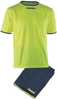 6df7a9898eec9b Kit Zeus Sticker Giallo-Verde Completino Completo Calcio Calcetto Muta  Torneo Scuola Sport