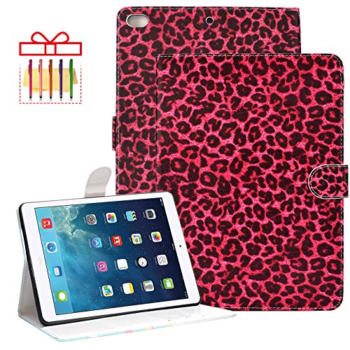 iPad 9.7 6th Generation 2018 Case, Popbag Smart Cover for iPad 9.7' 2017 5th Gen, iPad Pro 9.7', iPad Air 1st/2nd Generation, Protective Folio Stand Lightweight Shell with Auto Wake/Sleep, B-Red