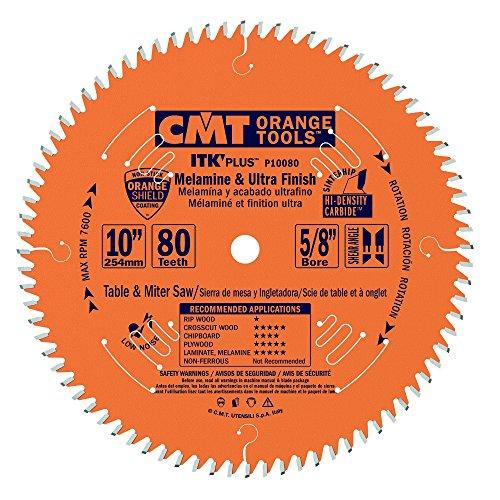 CMT P10080  Melamine & Ultra Finish Saw Blade