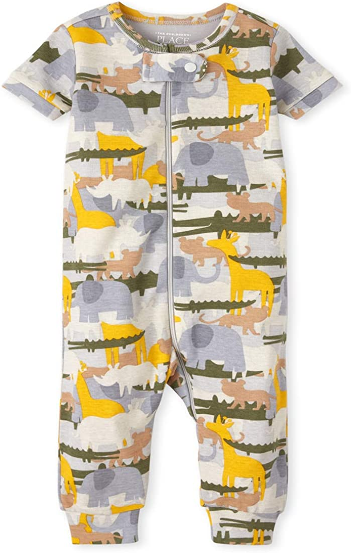 The Children's Place Unisex Baby And Toddler Safari Snug Fit Cotton One Piece Pajamas