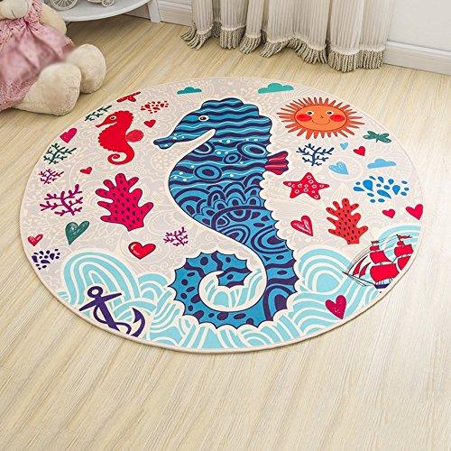 NAN&Carpettes Carpettes Moquette Round Cartoon Mats 200 * 200 Cm Chambre Durable (conception : B, taille : 2.0 * 2.0m)