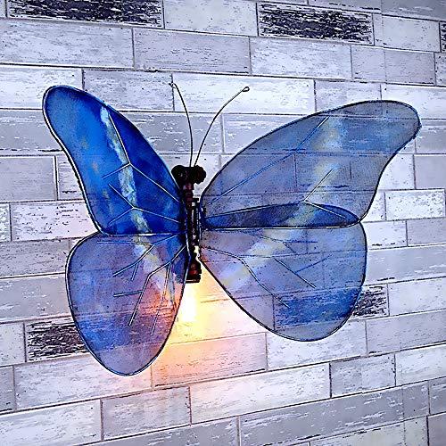 SJNSJN Kindergarten Kreative Wandleuchte Innen-Dekoidee Beleuchtung Vorrichtungen Schmetterling Einstellbar Handgefertigt E27 Sockel Eingang und Außenwand Antik-Look 220v 40w