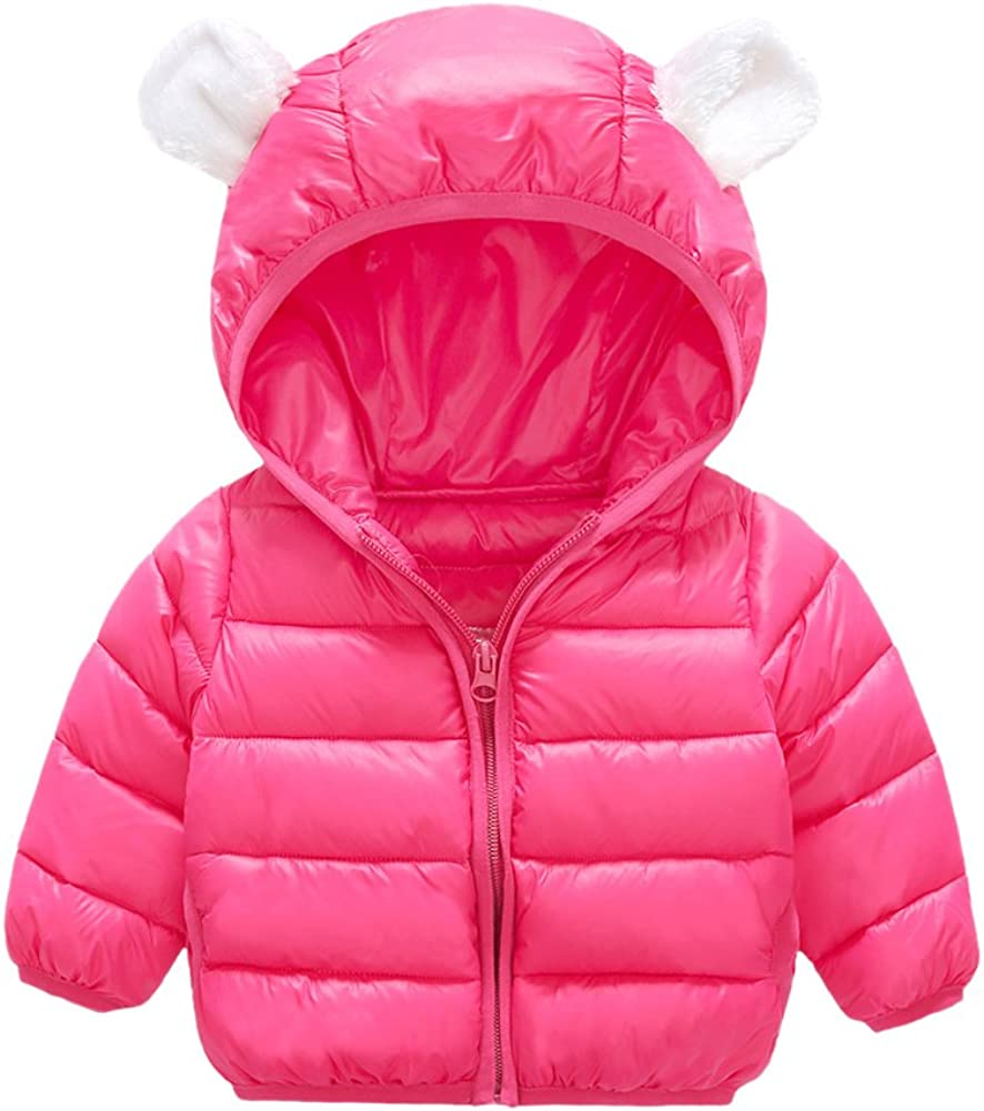 Tortor 1Bacha Baby Kid Girl Boy Cute Ear Hooded Puffer Jacket Coat