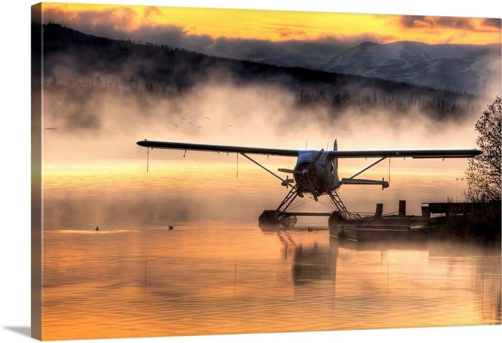 Floatplane Free Shipping Cheap Bargain Gift Sitting on Beluga Lake Ranking TOP5 Print Airpla Wall Canvas Art