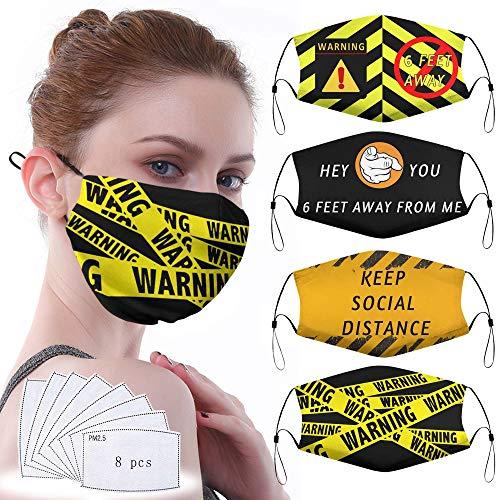 Bombline Keep Social Distance Fashion Protective, Facial Protection Unisex Dust Cotton, Washable, Reusable Cotton Fabric