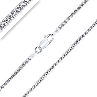 Nickel Free Italian 925 Silver bizmark Chaîne Collier différentes tailles disponibles Colliers et pendentifs de joaillerie Joaillerie