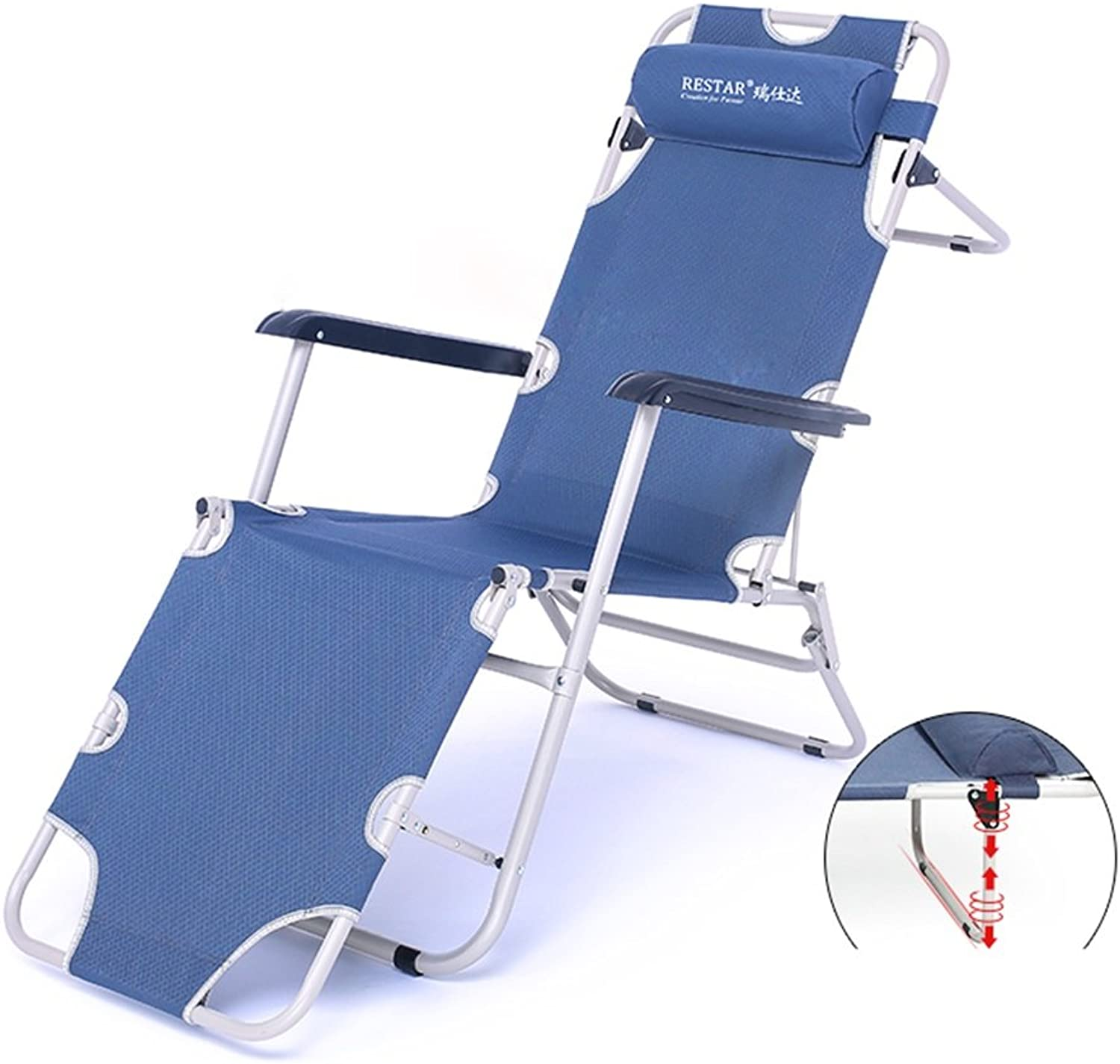 Office Back Lounger Folding Chair Lounge Chair Lunch Break Beach Chair Cool Balcony Chair Napping Bed (color   1)