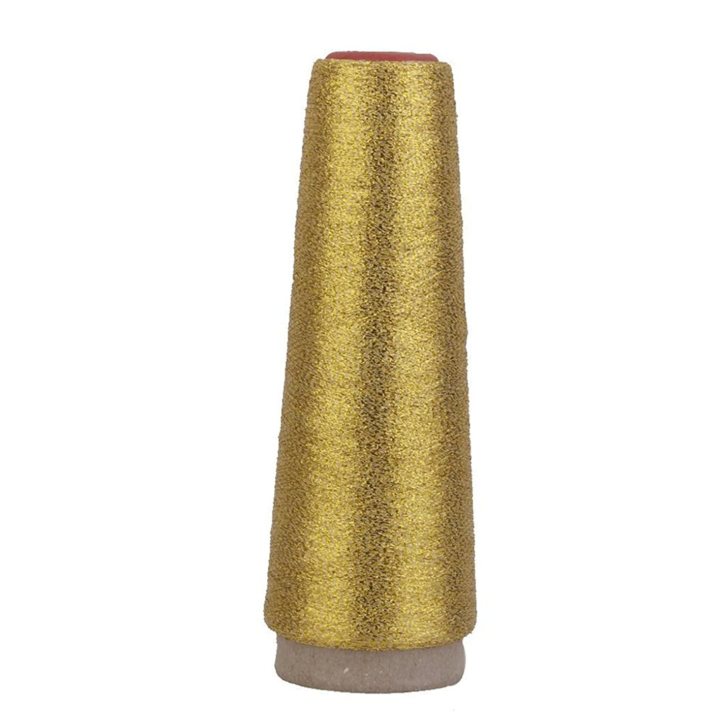 UEETEK Metallic 5000 Yards Sewing Embroidery Thread Spool Cord for Machine Brother JUKI PFAFF SINGER JANOME Gold