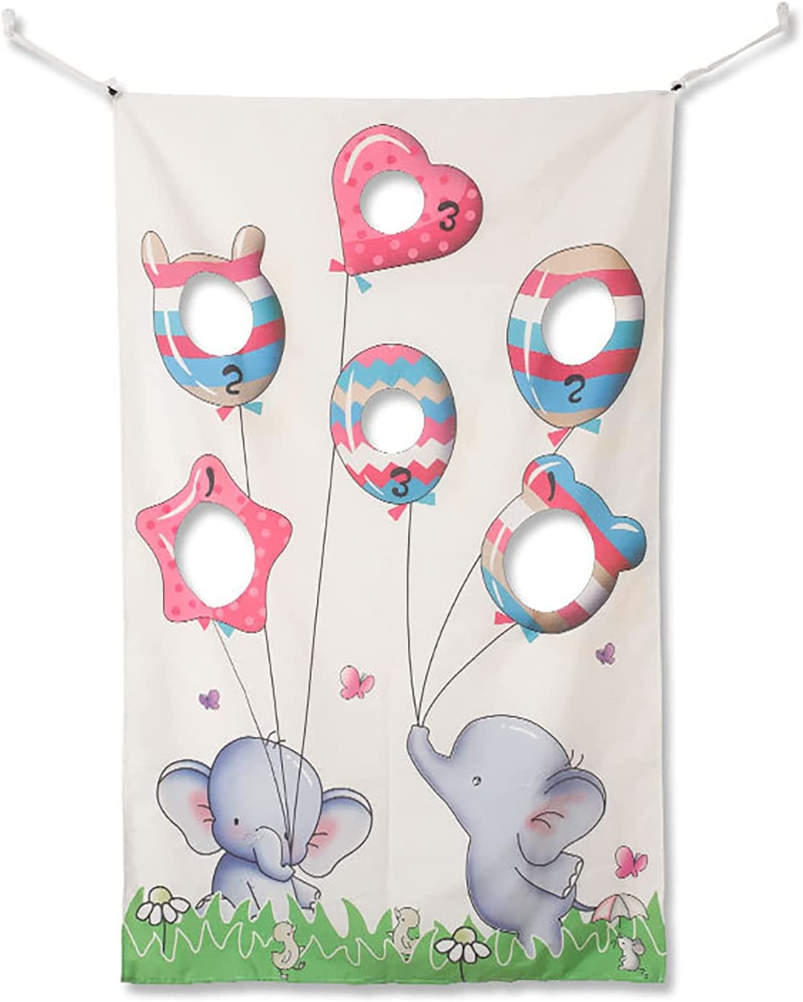 Ruiqas Toss Games NEW before selling Banner with Elephant Bags 3 Bean 2021