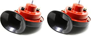 Tickas Reverse Horn,Reverse Horn Dual-Tone Electronic Snail Back-up Alarm for Electric Vehicles Motorcycles Bicycles Small Cars 110dB 510hz/410hz 12V DC 1 Pair