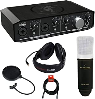 Mackie Onyx Series Producer 2-2 Audio Interface Compatible with Marantz MPM-1000 Condenser Microphone, Stereo Headphone, X...