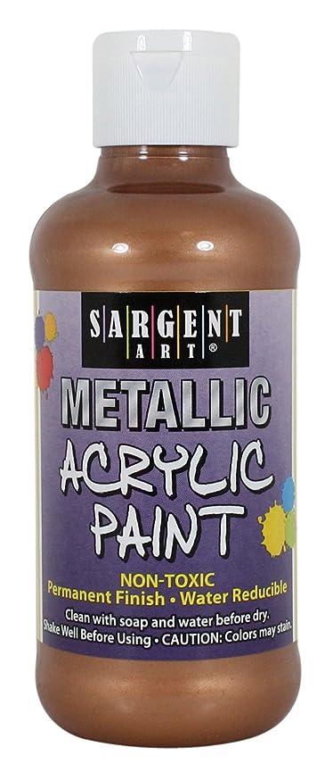 Sargent Art 25-2395 8-Ounce Metallic Acrylic Paint, Bronze