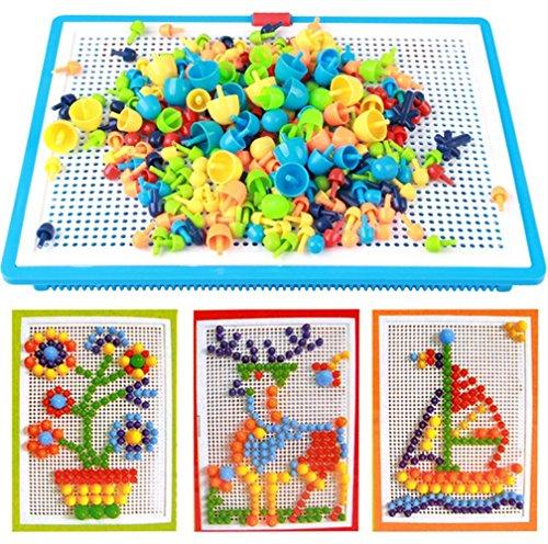 Jeu De Construction Mosaïque Puzzle Enfant Jouet Educatif Créatif Jouet Assemblage 296Pcs pour Garçons et filles plus de 3 ans Cadeau Enfant