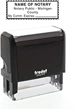 Self-Inking Custom Notary Public Stamp - Michigan