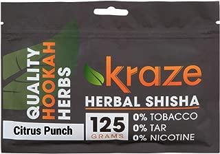 Kraze Hookah Tobacco-Free Herbal Shisha Molasses, 125g (Citrus Punch)