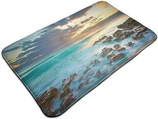 Barnardll-rug Non-Slip Entrance Floor Mat Highland Dunes 'Ocean Sunrise Funny Doormat Door Mat Decorative Indoor Outdoor Doormat Machine Washable Fabric 19.531.5 Inch