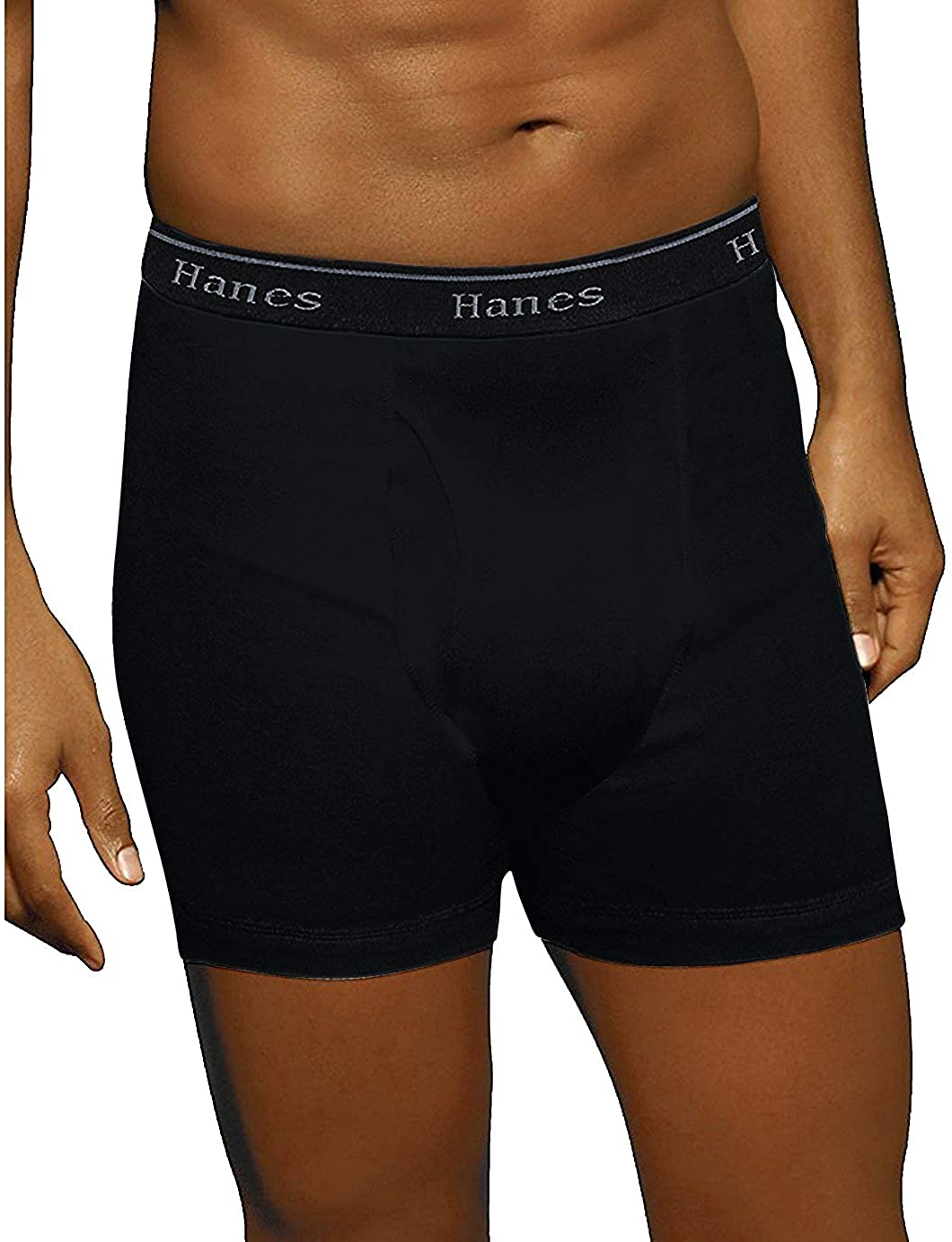 Hanes Men's 5-Pack Ultimate Boxer Briefs with ComfortFlex Waistband - Large Ful Black