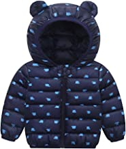 LONGDAY Baby Girl Boy Kids Light Down Jacket Windproof Zipper Cable Hooded Coat Winter Warm Toddler, 2019 Snowsuit