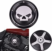 Frenshion Compatible for Black Skull Motorcycle Deep Cut CNC Cover Air Filter Cover Aluminum Decorative Accessories for Harley Street XG500 750 2015 2016