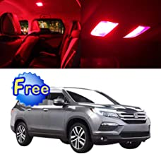 SCITOO LED Interior Lights 14pcs Red Package Kit Accessories Replacement for 2009-2014 Honda Pilot