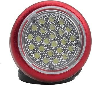 Ullman Devices RT2 LT Rotating Work Light - Magnetic Site Light with 24 LED Bulbs, Swivel Head. Site Lighting Supplies - RT2-LT