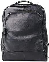 LHQ-hand bags Backpack Head Layer Leather Travel Bag Trend Bag Korean Business Computer Bag (Color : Black)