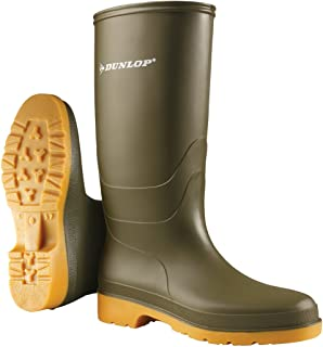 Dunlop Wellies | Dunlop Womens Dull PVC Olive Wellingtons | Dunlop Wellingtons, Green, AU7