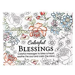 colorful blessings coloring postcards