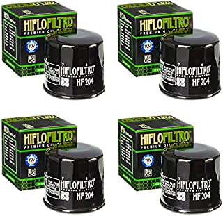 4 Genuine HiFlo HF204 Oil Filters