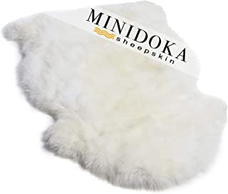 Single Pelt, New Zealand Premium Sheepskin, Ivory Rug, XL 103cm / 40