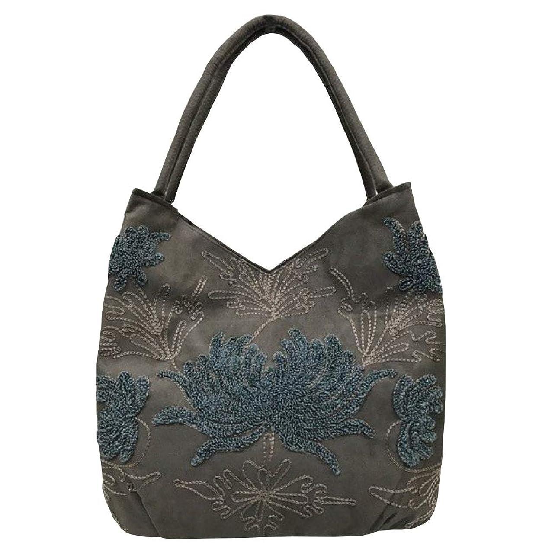 運河コンサートつまらないベトナムバッグ 刺繍 トートバッグ 肩掛け 鞄 両面刺繍 ベトナム雑貨