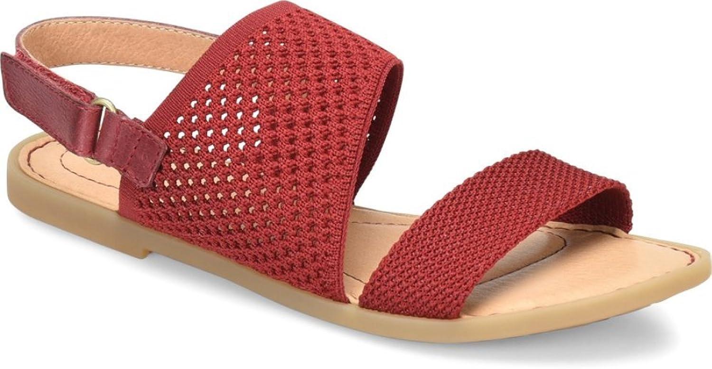 B.O.C. kvinnor Hanz läder Open Toe Casual Slingback Sandals, Sandals, Sandals, röd, Storlek 8.0  till lägsta pris