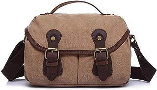 Mens Bag Color:grey Simple Retro Zipper Briefcase Canvas Messenger Shoulder Bag High capacity
