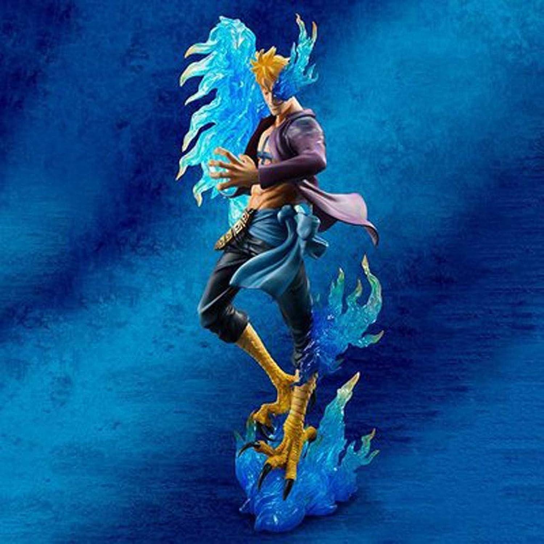 tienda en linea YSDHE Una Pieza Rey náutico Modelo de Juguete de de de Cocheácter Pirata blancoa Pop Personaje Realista Estatua ala ala Maruk (Azul)  n ° 1 en línea