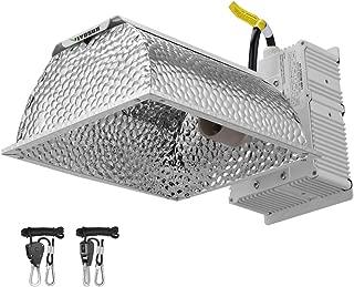 VIVOSUN 315W Ceramic Metal Halide CMH/CDM Grow Light Fixture w/No Bulb, ETL Listed, High-Reflectivity Vega Aluminum Hood, 120/240V Ballast, Full-Spectrum Hydroponic Grow Light and Suspension System