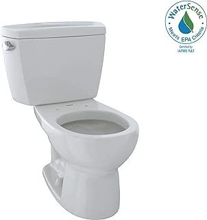 TOTO CST743E#11 Eco#Drake Round Bowl Toilet C743E+St743E, Colonial White