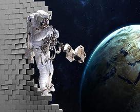 Papel Pintado 3D Tela Seda No Tejida Fondo De Pantalla Personalizado Wallpaper Para El Hogar Mural Estéreo Astronauta Universo Galaxy Earth Kids Wallpaper @ 430 * 300