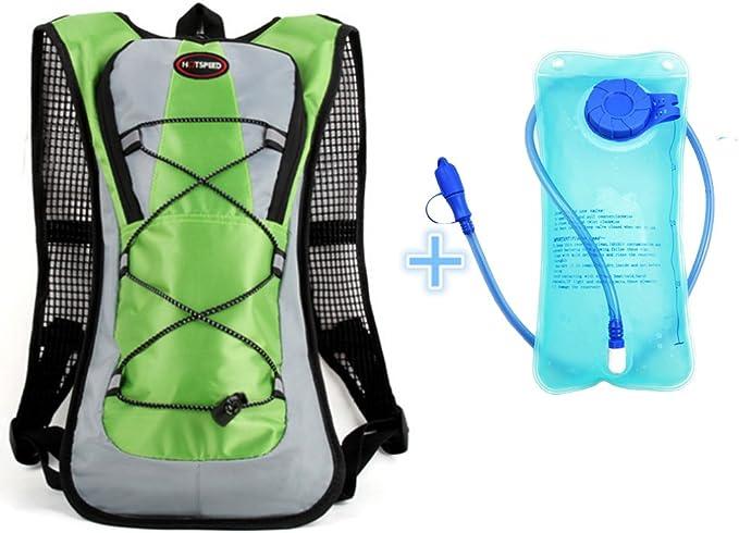 Monvecle Mochila de agua de hidratación con bolsa de agua de 2 litros, perfecta para correr, ciclismo, senderismo, escalada y esquí