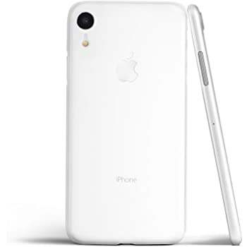iPhone XR ケース 0.4mm超薄型 アイフォンXRケース 高品質ハードケース【本体をぎりぎりまで包み込む極み設計】 マット質感 アイフォンXR カバー Qi充電対応 指紋防止(ホワイト)