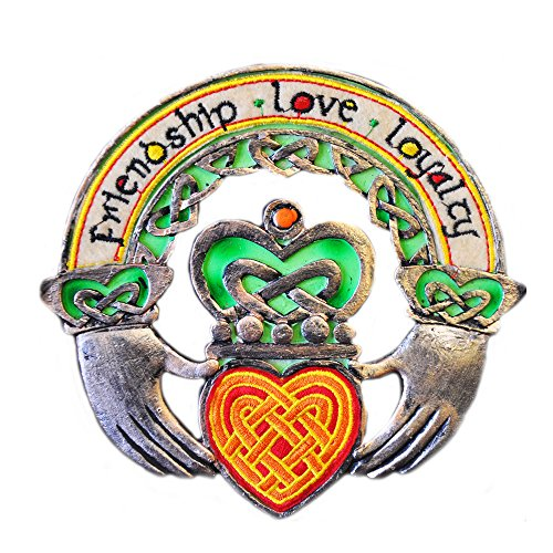 Celtic Threads Hand Painted Wall Plaque Claddagh