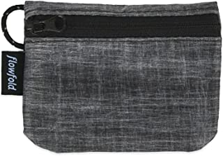 Flowfold RFID Blocking Coin Pouch - Lightweight, Secure Travel Wallet - Coin, Cash, Card Wallet - Made in USA - Vegan