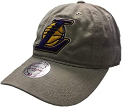 Mitchell & Ness Los Angeles Lakers NBA Blast Wash Tan Khaki Slouch Relaxed Hat Cap Adult Men's Adjustable Strapback