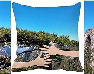OFFbb-USA - Funda cuadrada para almohada (forma de árbol de pino)