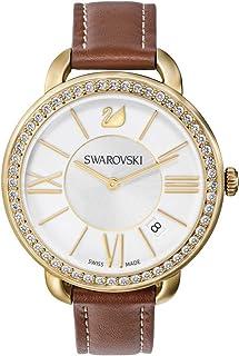 Swarovski Aila Day Brown Yellow Gold Tone Watch