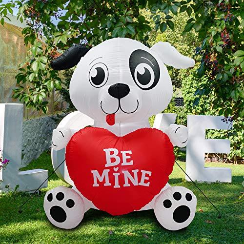 PARAYOYO 180 cm hinchable Valentine Cutie decoración para cachorros para bodas y fiestas, brilla con un corazón dulce