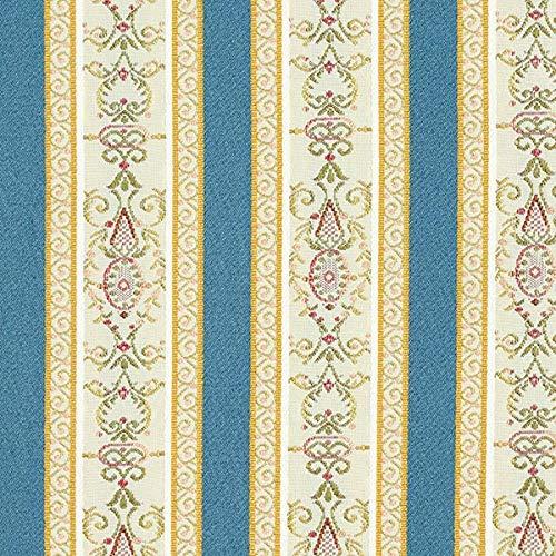 Fabulous Fabrics Möbelstoff Jacquard Biedermeier Streifen – Creme/blau — Meterware ab 0,5m —...