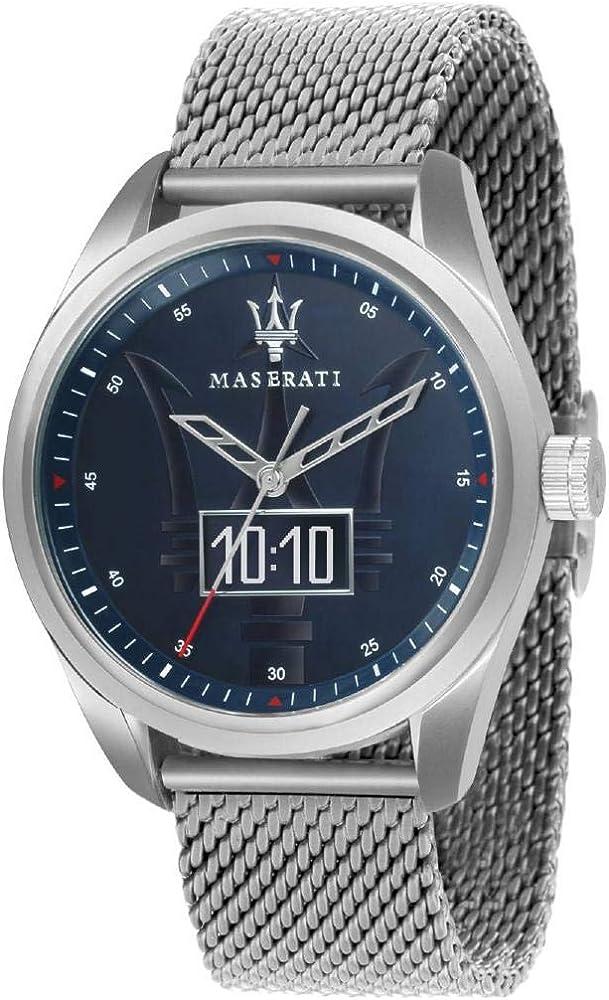 Maserati orologio da uomo traguardo smart, in acciaio inossidabile 8033288780076