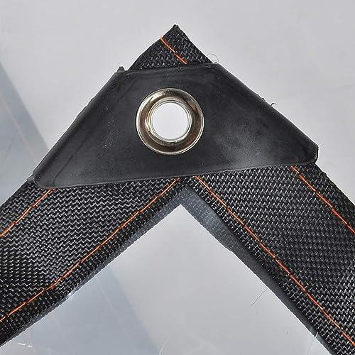 HCYTPL Bache Transparente imperméable à l'eau résistant, approprié pour la Couverture d'article, décoration de Jardin, Tente de Camp, épaisseur 0.12mm,4  6m